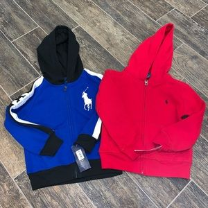 NWT Polo Ralph Lauren Set of Hoodies Size 4/4T